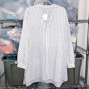 NWT ZARA | TRF oversized boho shirt dress tunic XL